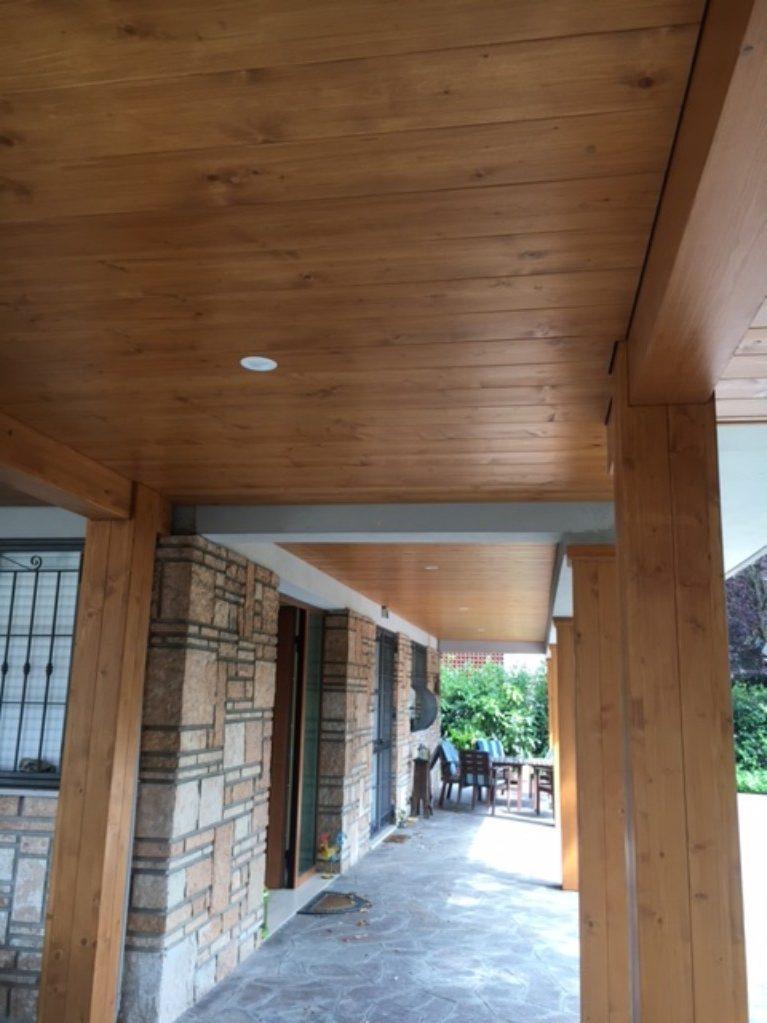 Casa in legno Modena portico