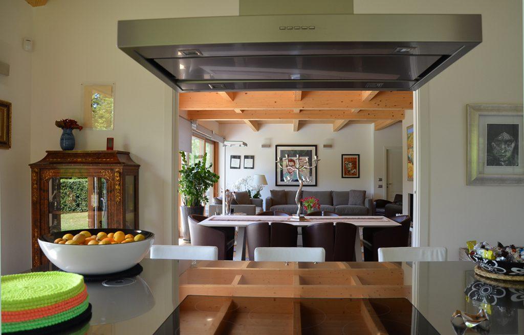 Interni casa in legno