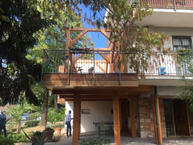Casa in legno Modena terrazza
