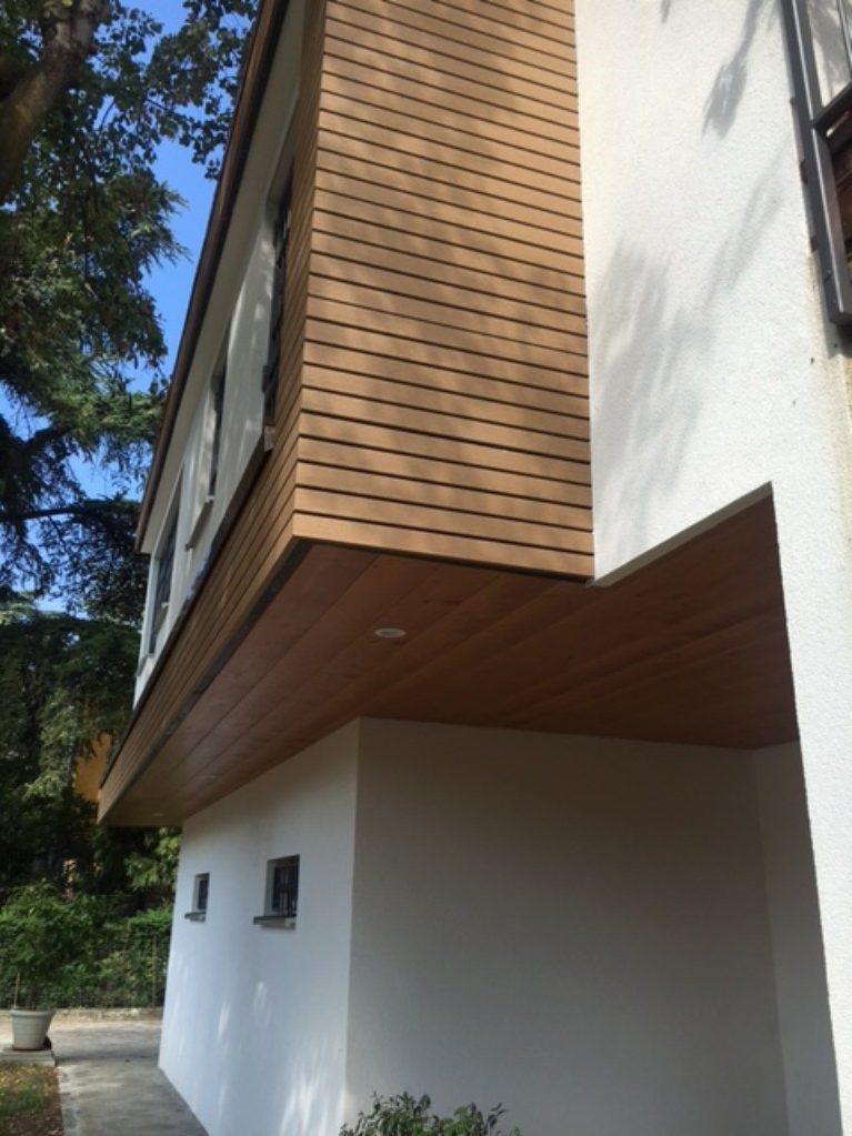 Casa in legno Modena dettagli