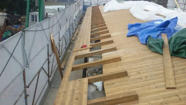Casa in legno Fagnano Alto tetto